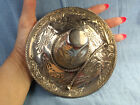 L. Maciel Mexican Sterling Silver Sombrero Hat Ring Tray Unusually Large 133.9Gr