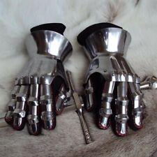 16g Hourglass Gauntlets / Gloves, Fully Articulated Metal. Reenactment LARP