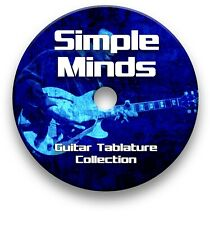 SIMPLE MINDS ROCK GUITAR TAB TABLATURE SONG BOOK ANTHOLOGY SOFTWARE CD