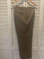 Brooks Brothers 1818 Men's 42x29Tan Brown Flat Madison Wool Dress Pants Pristine