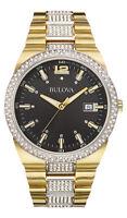 Bulova Men's 98B235 Crystal Accents Display Quartz Two Tone 43mm Watch