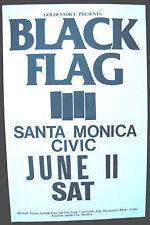 BLACK FLAG Santa Monica Civic CALIFORNIA 1983 CONCERT POSTER Punk MISFITS +++
