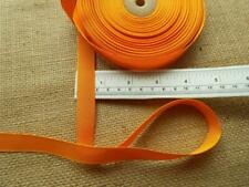 "BRIGHT Halloween 10M ORANGE GROSGRAIN RIBBON ½"" 15mm  trim seam hair bow tape"