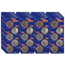 100 Super Fresh New Sony CR2450 ECR 2450 3v LITHIUM Coin Cell Battery Exp. 2027