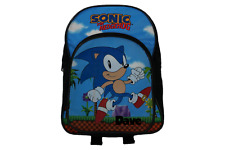 Sonic Rings Officially Licensed  Backpack- Plain/Personalised School Present Fun