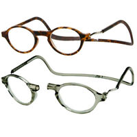 CliC CLASSIC Magnetic Reading Glasses; HANG around neck, SNAP closed, Adjustable