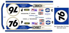 #76 Dick Thompson Howmet 1/43rd Scale Slot Car Decals