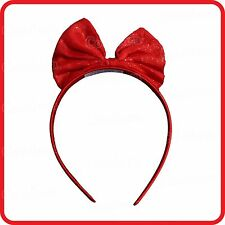 PRINCESS SNOW WHITE FAIRY FAIRIES RED BOW TIE HEADBAND-HEADDRESS-HAIRBAND-PARTY