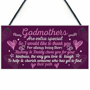Godmother Gifts For Christmas Godparent Christening Friend Gifts Keepsake Plaque