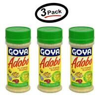 3 Pack Goya Adobo All Purpose Seasoning For Meat With Cumin/Con Comino 8 oz 3 Pk
