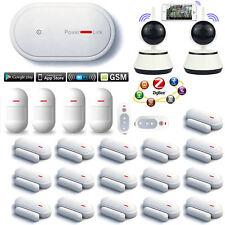 E66 APP WiFi GSM GPRS Wireless Home Security Alarm Burglar System+2 HD IP Camera