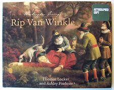 Washington Irving's RIP VAN WINKLE Ashley Foehner ILLUS Thomas Locker Signed - N