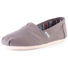 Toms Classic Mens Grey Canvas Slip On Shoes
