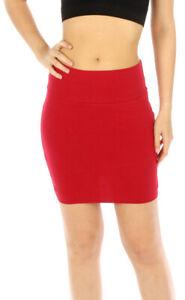 Vivian's Fashions Skirt - Cotton Mini Skirt (Junior and Junior Plus Sizes)