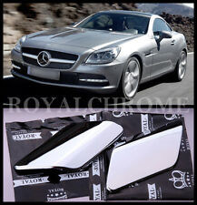 US STOCK x2 CHROME Headlight Washer Nozzle Covers Mercedes SLK Class R172 11-16