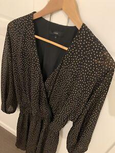 Saba Spot Long Sleeved Dress