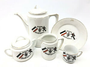 WW1 Imperial German Navy Kreigsmarine part porcelain coffee service