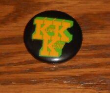 "KKK Klark Kent Button Pin Original Promo 1 1/4"" Police Stewart Copeland"