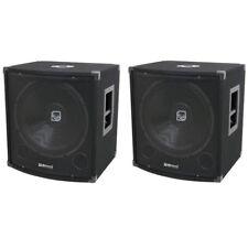 QTX Sound QT15S Bass Bins 15'' Subs Passive PA DJ Subwoofers QT 15S PAIR
