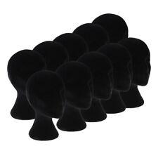 10xfemale Styrofoam Foam Mannequin Manikin Head Model Wig Glasses Display Stands