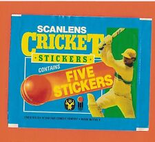 #D23. SCANLENS CRICKET STICKER WRAPPER - 1985 (BLUE), NO STICKERS