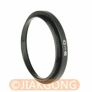 43mm-46mm 43-46 mm Step Up Filter Ring Stepping Adapter