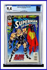 Superman The Man Of Steel #29 CGC Graded 9.4 DC January 1994 Comic Book