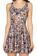 For Party Hot Sale Fashion Women's Pleated Digital Print cat Skater Dress L012