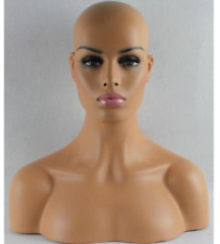 Female Fiberglass Mannequin Head Bust For Hat Glasses Mold Stand Torson Wig 09
