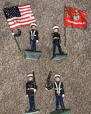 New listing Wall Usmc Us Marine Corps Lead Soldiers Gun And Flag Set Usa Military