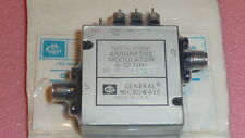 NEW 1PC GENERAL MICROWAVE D1956 ABSORPTIVE MODULATOR  6-12 GHz SMA F PIN , Radio