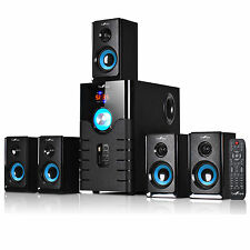 BEFREE SOUND 5.1 CHANNEL SURROUND SOUND BLUETOOTH SPEAKER SYSTEM BLUE BFS-500