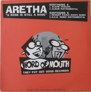 """ARETHA FRANKLIN - A Rose Is Still A Rose ~ 12"""" Single PS PROMO"""