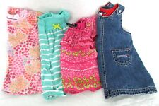 BABY CLOTHES OUTFITS ONE PIECE DRESSES LOT OF 4 GIRLS 3-6 MOS EXCELLENT CONDITIO