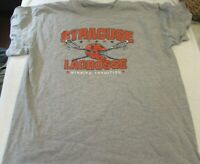 """Men's T Shirt Syracuse Lacrosse Lax """"Winning Tradition"""" Size L Large Gray"""