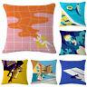 Cotton Linen Pillow Case Waist Sofa Throw Cushion Cover Home Decor Office