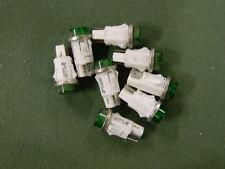 Chicago Miniature Lighting 1053QC5 Lamp Neon Green 250V 1/2W Lot of 8