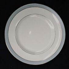 Royal Doulton Porcelain Etude Dinner Plate White Gray Rim Silver Trim 80947