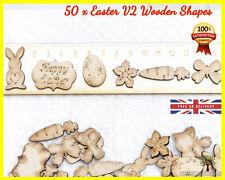 50 Easter Bunny v2 Wooden Shapes MDF Scrapbooking Wood Letter Embellishment Card