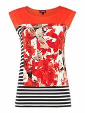 Episode Sleeveless mixed media top Graphic Floral Print Women's Tops RRP £53.85