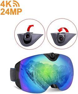 ($150 Off)***Camera Ski Goggles, 4K Camera Snowboard Goggles with WiFi Feature