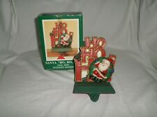 Midwest of Cannon Falls Stocking Hanger Cast Iron Santa Ho Ho Ho with Box