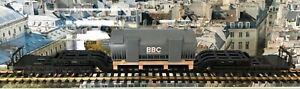 """Fleischmann 5297 H0 DB III SSt 34 Tiefladewagen mit """"BBC-Generator"""" in OVP """"NEU"""""""