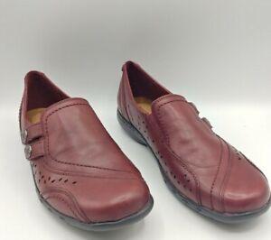 Women's Rockport Cobb Hill Slip-On Shoes CAG34BD Bordeaux Size 9 M