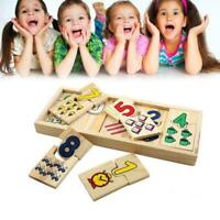 Kids Toys Wooden Number and Colour Matching Puzzle Educational - T3S5