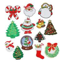 13Pc Christmas Sew on Patch Iron on patch Stickers Patch On Embroidered Applique
