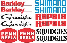 Mixed Fishing Stickers x 12 Marine Grade Quality Stickers