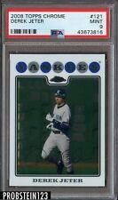 2008 Topps Chrome Derek Jeter New York Yankees PSA 9 MINT