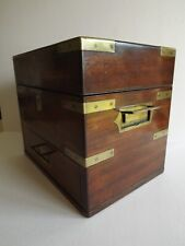 CAMPAIGN STYLE MEDICAL - APOTHECARY BOX WITH CONTENTS -  FINE VICTORIAN