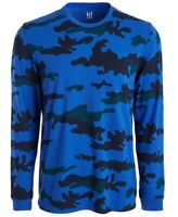 Ideology Mens T-Shirt Royal Blue Size 2XL Exploded Camo L/S Crewneck Tee $30 293